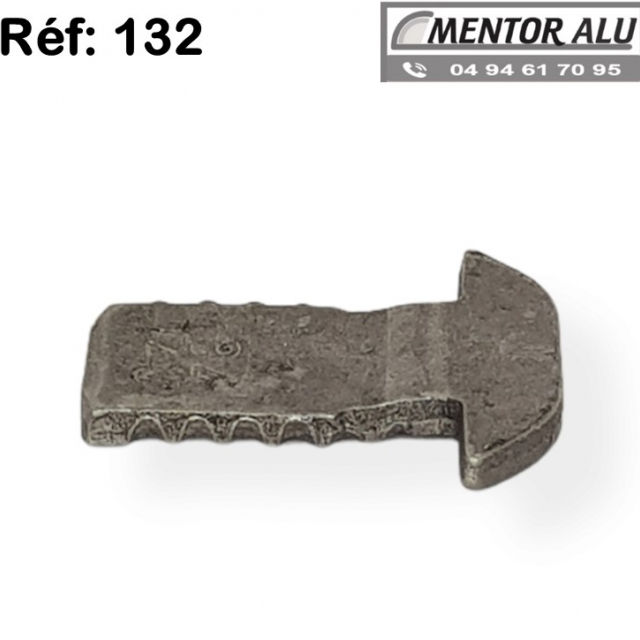 Pêne crochet 132 pour serrure savio 51 -52-53 3
