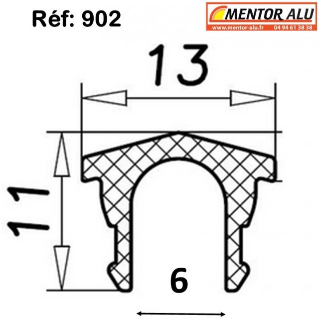 Rail polyamide pour baie vitrée coulissante 1