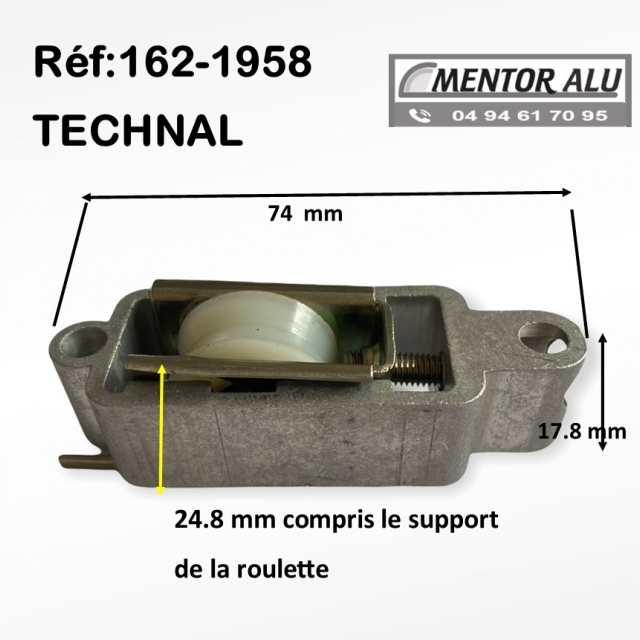 TECHNAL galet  roulette simple polyamide TECHNAL  1