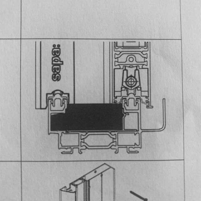 Brosse étanchéité  2 rails -sachet de 4 3