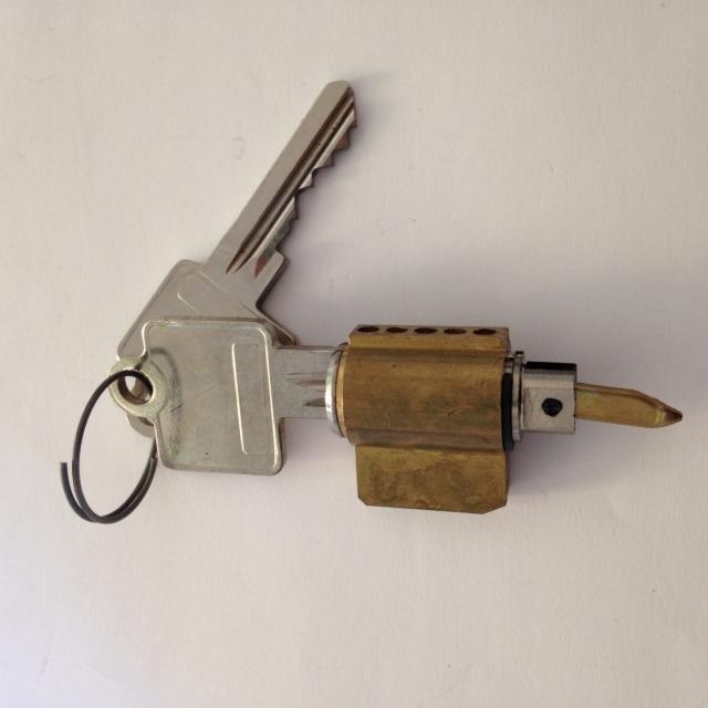 Serrure de coulissant à clés sapa intexalu 4