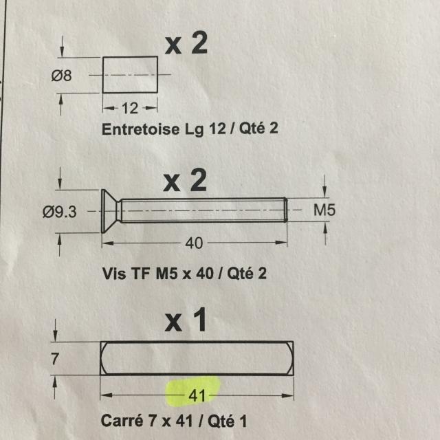 Kit Visserie pour poignées chronos gros profil  1