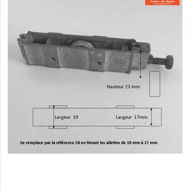 Roulette galets de baie coulissante  marques diverses   2